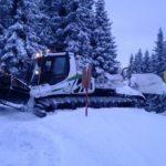 Montage Windwand Märchenwiese und Burgstallalm in Schladming – Einsatz  bei Schnee und Eis