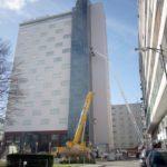 Spektakuläre Reparaturverglasung beim Hotel Europa